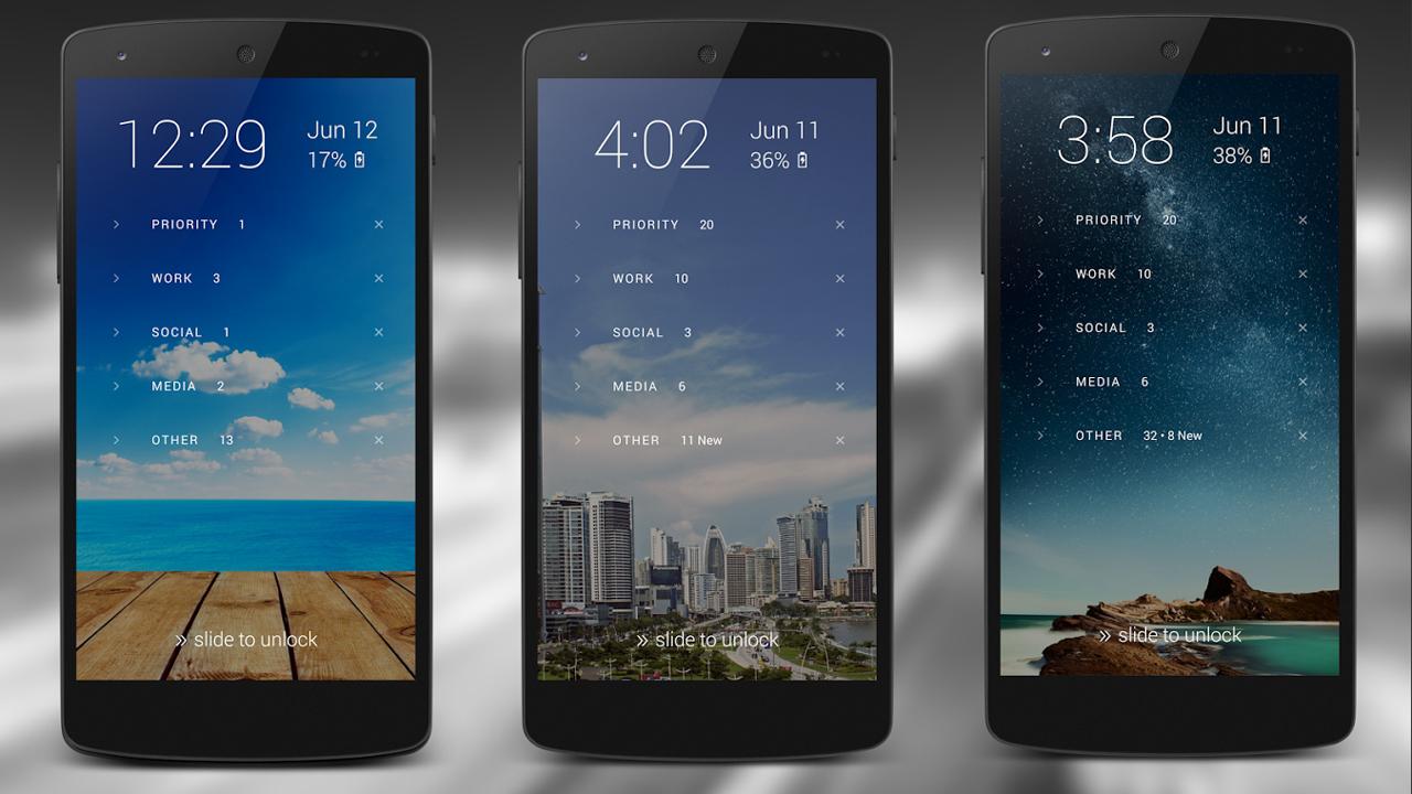 Echo Notification Lockscreen für Android: Benachrichtigungen auf dem Sperrbildschirm