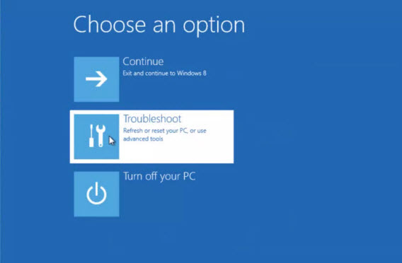How to repair Windows 8 from the installation disk