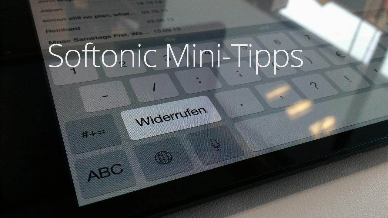 Widerrufen und wiederholen in iOS 8: Texteingabe rückgänging machen