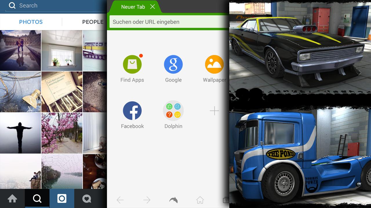 Instagram, wahnwitzige Autorennen und ein alternativer Browser: Die Android-Hits der Woche