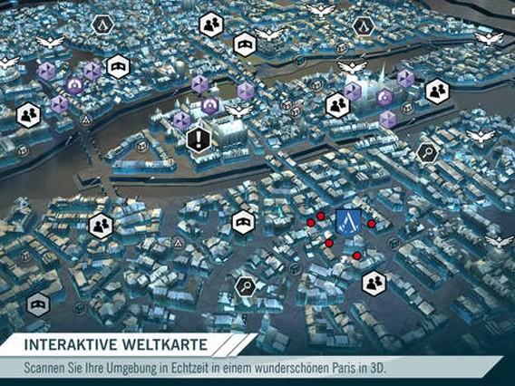 Assassin's Creed: Unity Begleit-App mit interaktiver Karte und Rätseln zum Spiel