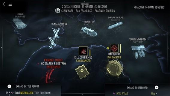 Mit der kostenlosen Begleit-App zu Call of Duty: Advanced organisieren Sie Clankriege und sichern sich extra Beute im Spiel