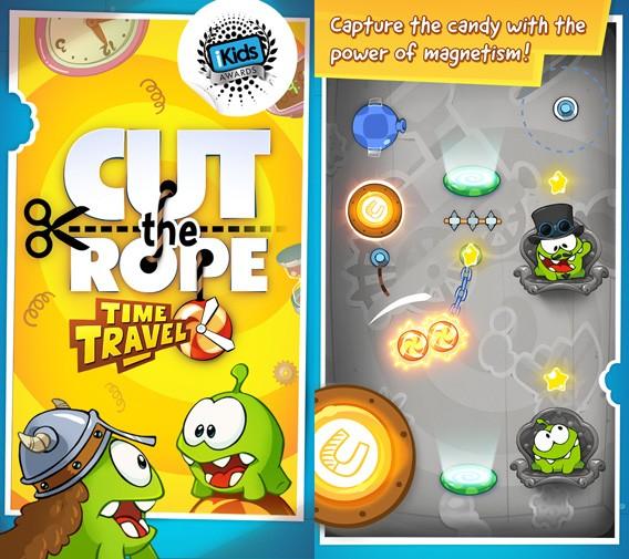 Cut the Rope: Time Travel erhält ein neues kostenloses Kapitel mit neuen Magnet-Rätseln