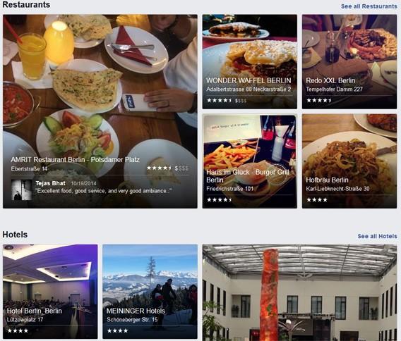 Facebook Places startet als eigenes Bewertungsportal für Restaurants und Geschäfte in Konkurrenz zu Yelp