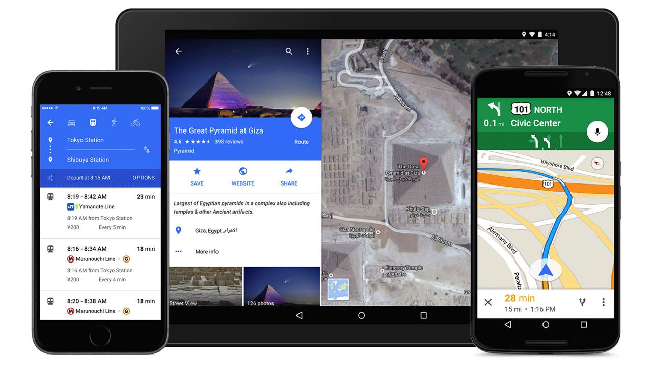 Google Maps mit Material Design und neuen Funktionen zur Navigation