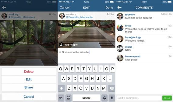 Instagram-Update ermöglicht das nachträgliche Ändern von Bildbeschreibung und Standort