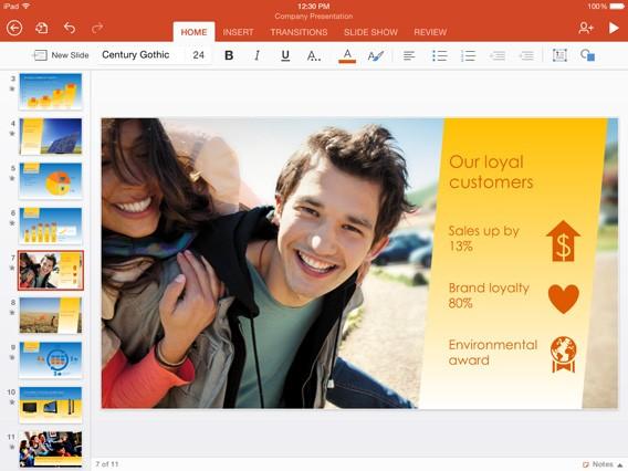 Microsoft Office: Touch-Version für Windows 10, iOS und Android Tablets im Video