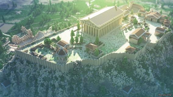 Minecraft: Besuchen Sie die Akropolis von Athen im Aufbauspiel