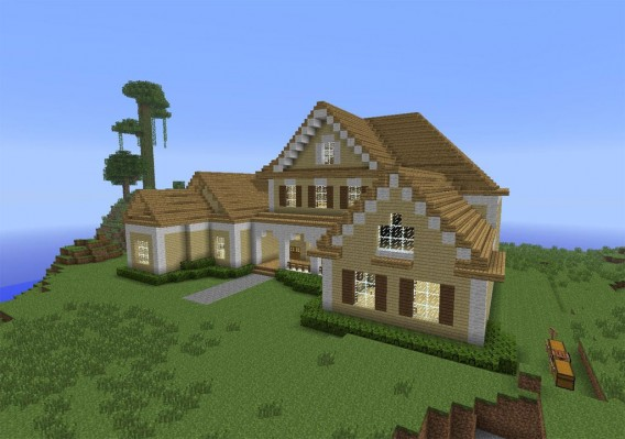 Ein haus in minecraft bauen for Fortnite modernes haus
