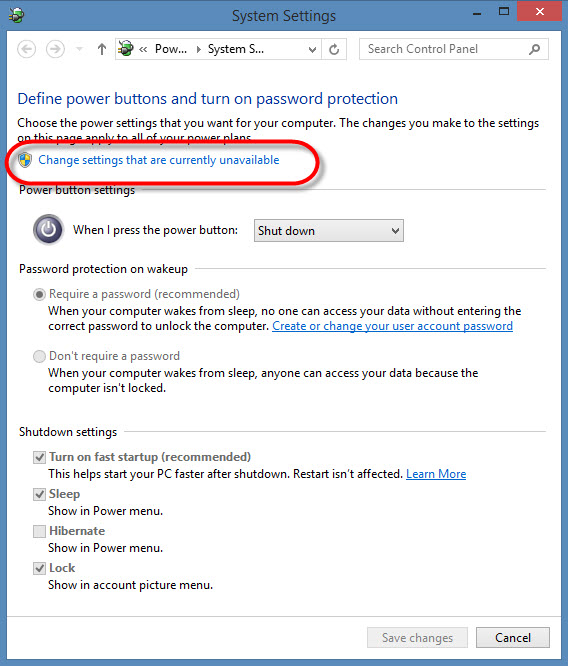 windows 8 jak przywrocic przycisk hibernacji