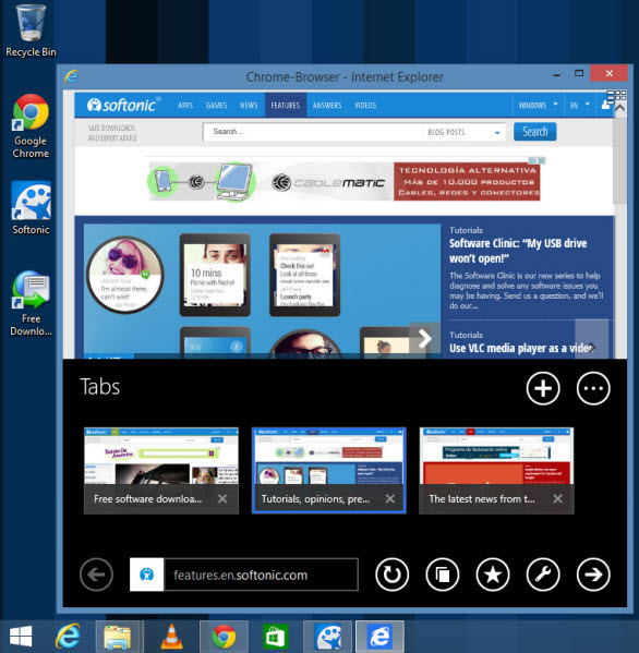 Windows 8 Apps im Fenstermodus
