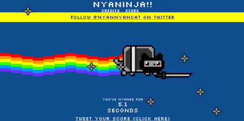 Nyan cat f te son premier anniversaire retour sur 1 an de - Combien de temps dur un retour de couche ...