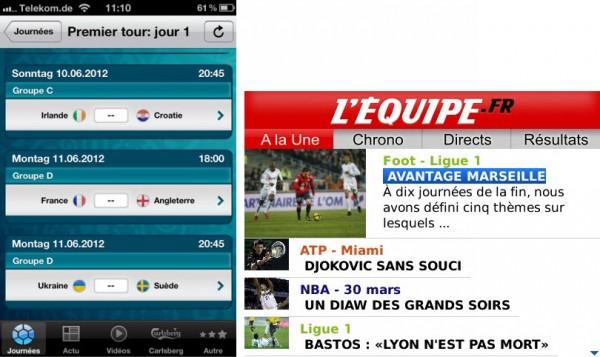 Euro 2012: Les applis pour suivre la compétition sur son mobile