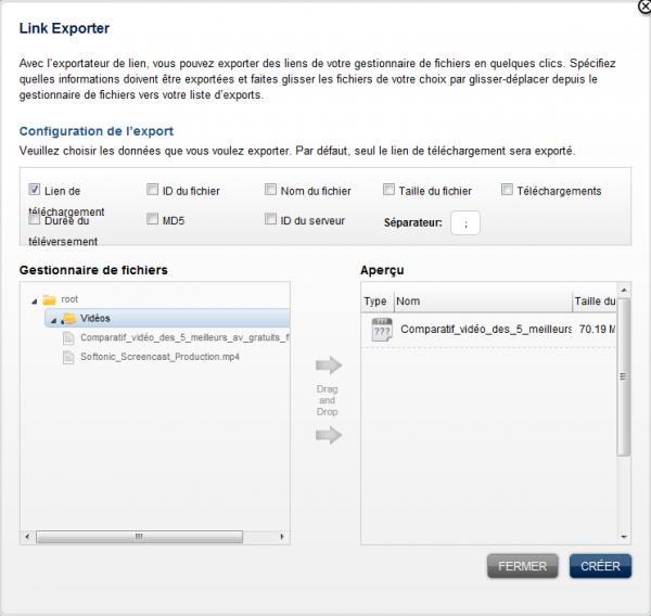 Link Exporter RapidShare Softonic