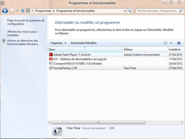Guide de Windows 8 #4 Désinstaller un logiciel