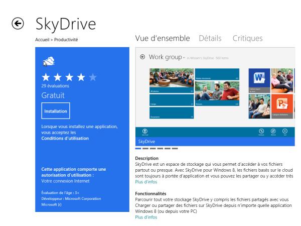 l'installation de l'application Windows 8 bloquée en attente