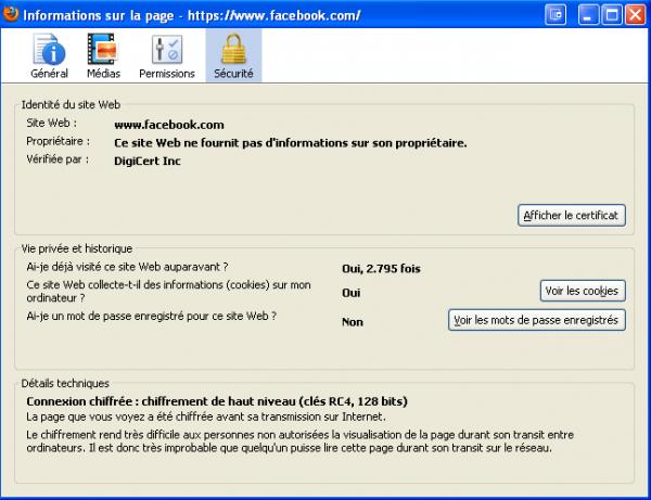 Page sécurisée Protocole HTTPS