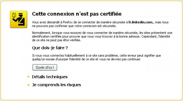 HTTPS Vérification du site échouée