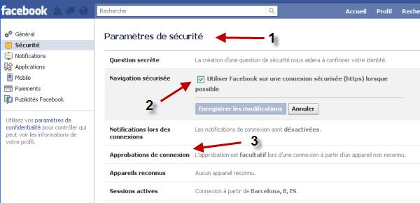 Sécuriser la connexion de Facebook HTTPS