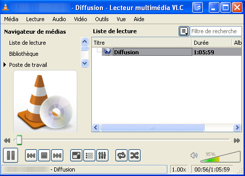 Convertir des vidéos en streaming VLC Media Player