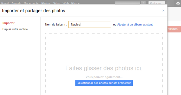 Renommer un album photo sur Google + Softonic