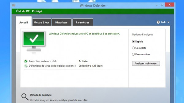 windows 8 sécurité