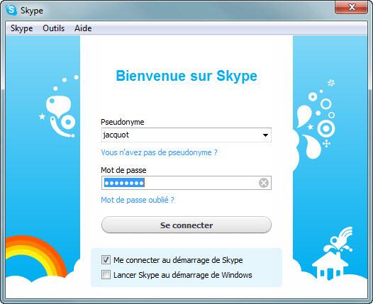 Connexion à Skype Softonic