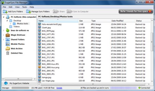 Dropbox - SugarSync: le match des clés USB online
