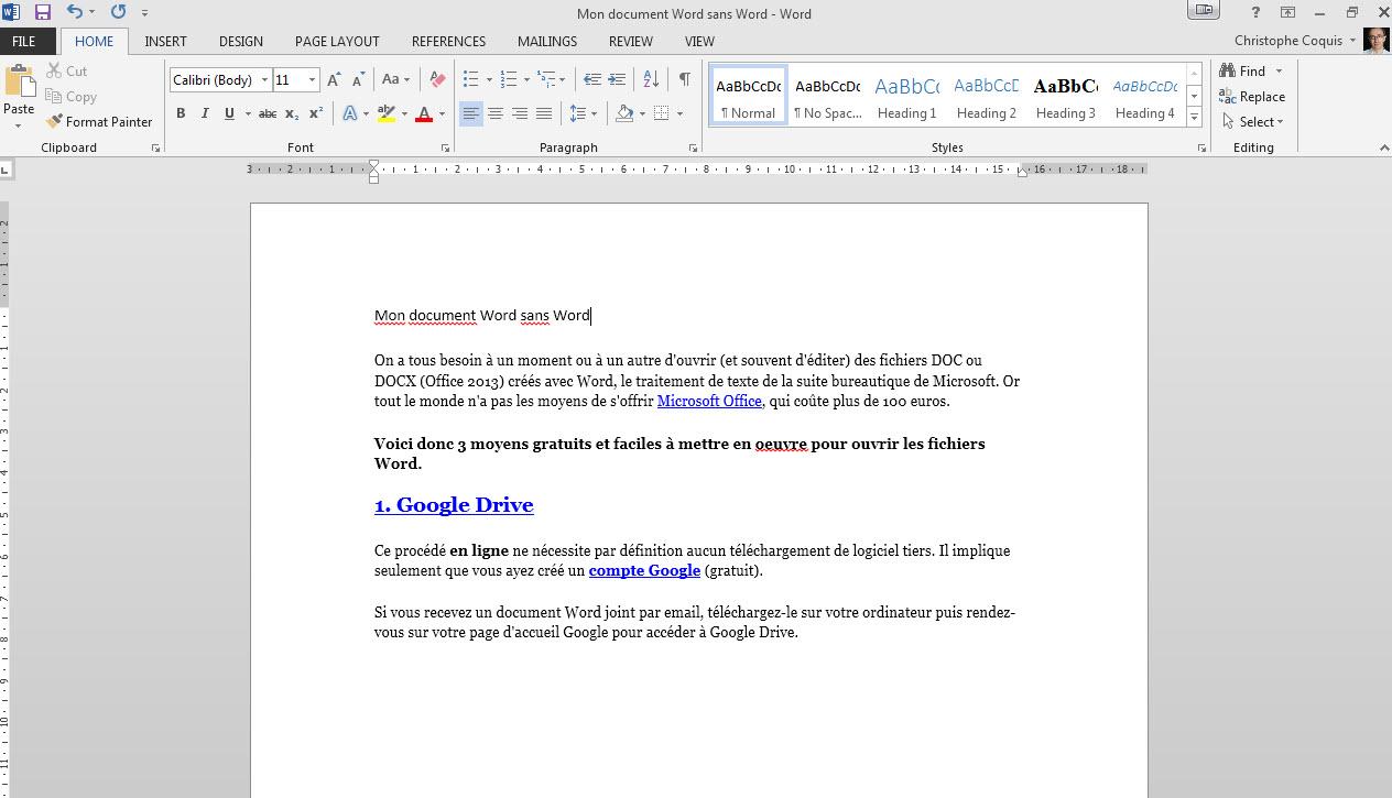 traitement de texte word gratuit en ligne