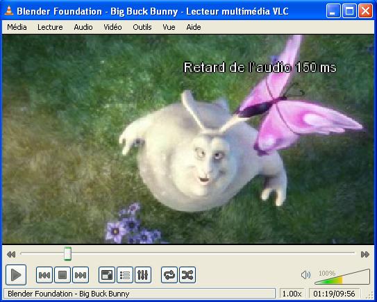 Synchroniser audio video VLC 02