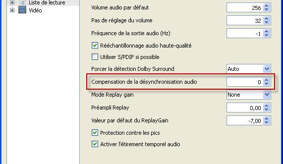Synchroniser audio video VLC 05