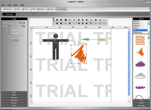 L'interface de LogoMaker: claire mais peut mieux faire