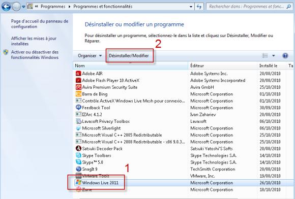 comment désinstaller complètement Internet Explorer Vista