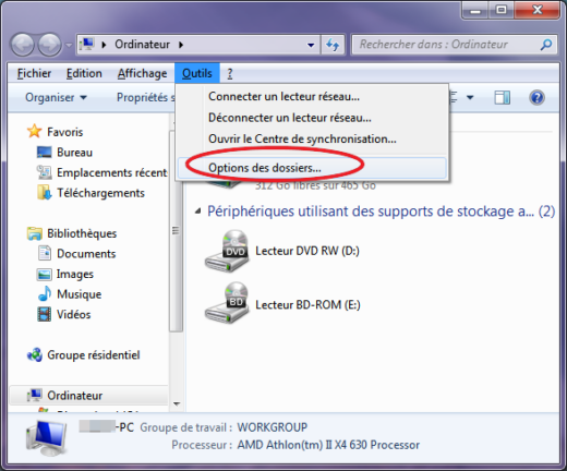 Windows 7 comment rechercher dans le contenu des fichiers for Fenetre windows 7