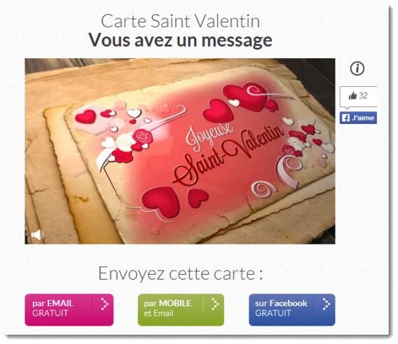 carte Saint-Valentin virtuelle