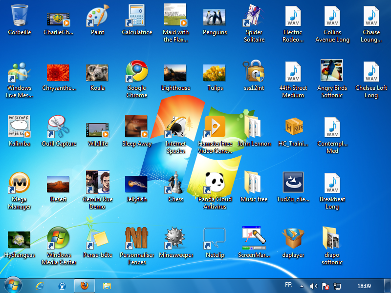 Comment ranger son bureau avec fences - Personnaliser son bureau windows 7 ...