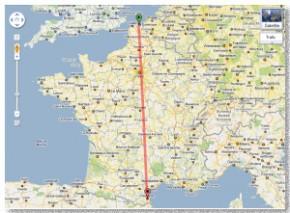 mesurer une distance sur une carte