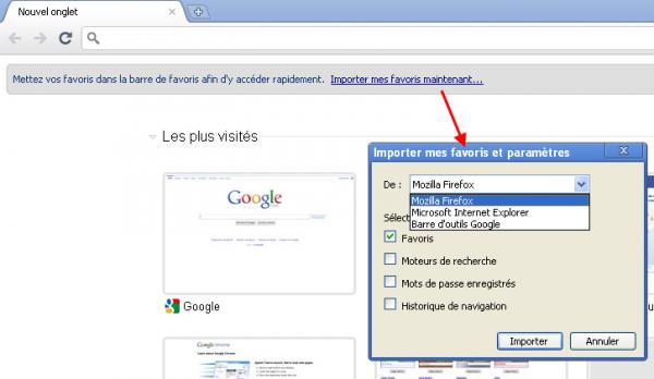 Passer de Firefox à Chrome sans perdre ses habitudes