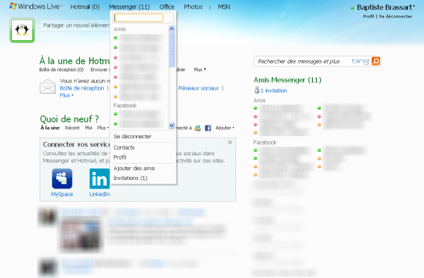 Comment ajouter ses contacts Facebook au chat de Hotmail