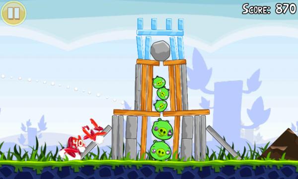 Angry Birds sur Android: plusieurs parties sur un même téléphone