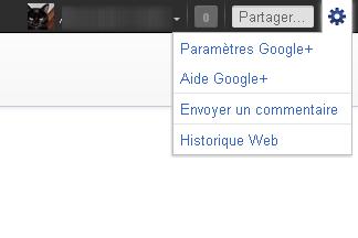 Google+, les paramètres