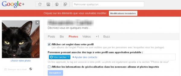 Paramétrer le partage de ses photos sur Google+