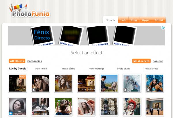 L'appli web de la semaine : Photofunia