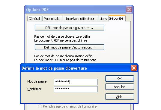 Comment prot ger un pdf avec un mot de passe - Comment convertir un pdf en open office ...