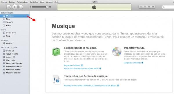 Importer de la musique dans iTunes