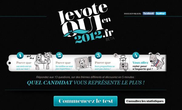 Je vote pour qui en 2012
