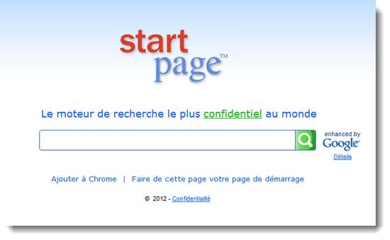 Homepage StartPage