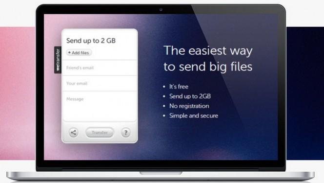 Comment envoyer un fichier volumineux de 2 Giga avec WeTransfer?