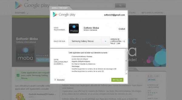 Installer une application via Google Play