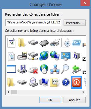 Icône Arrêt du PC